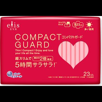 エリス コンパクトガード(多い昼用)羽つき 23cm|生理用品|商品情報 ...