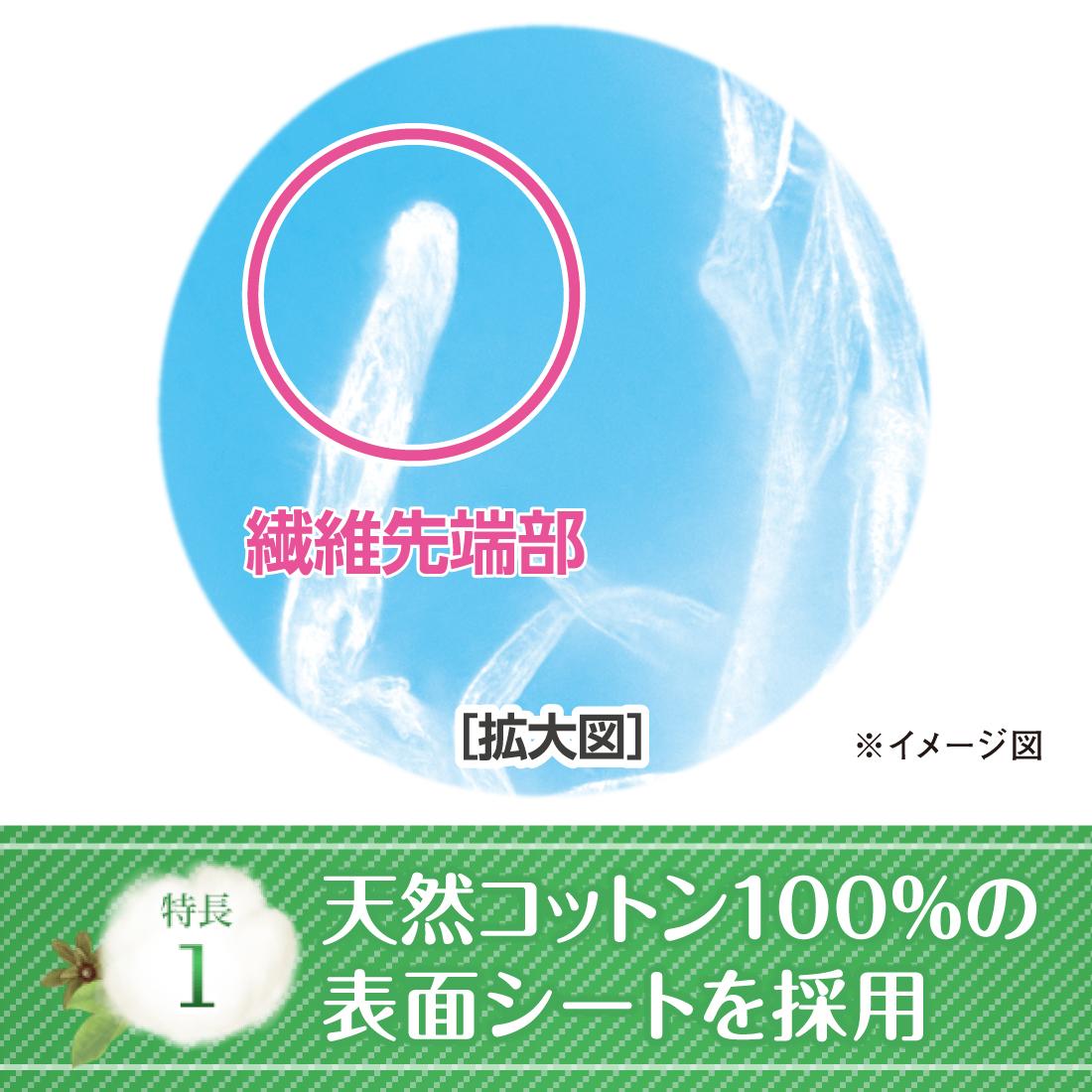 アテントコットン100%自然素材パッド中量